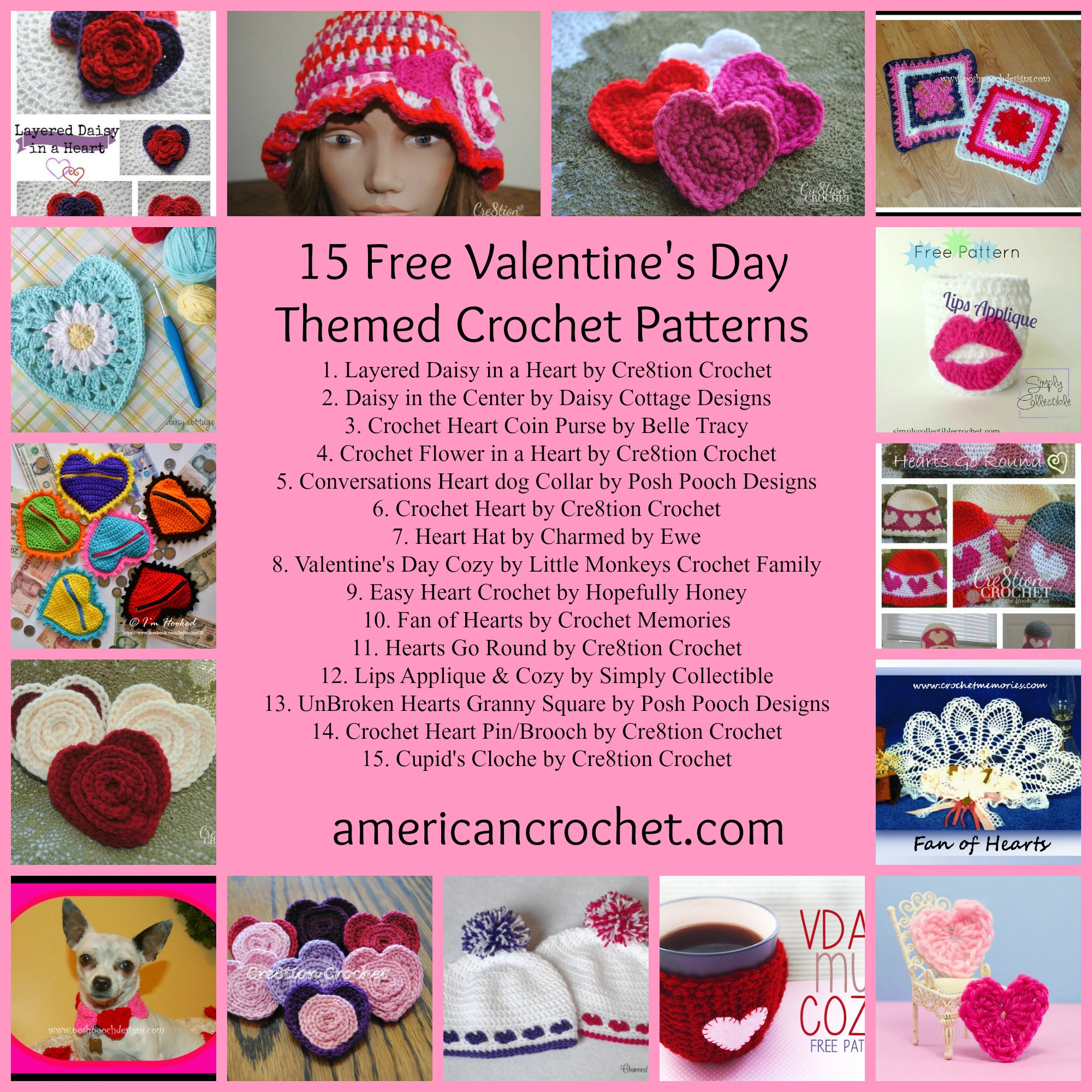 Valentines Themed Roundup American Crochet Roundup