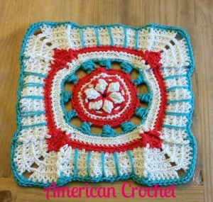 All American Crochet Afghan Pattern Free : The 2015 American Crochet Afghan Crochet~Along: Square #6 ...