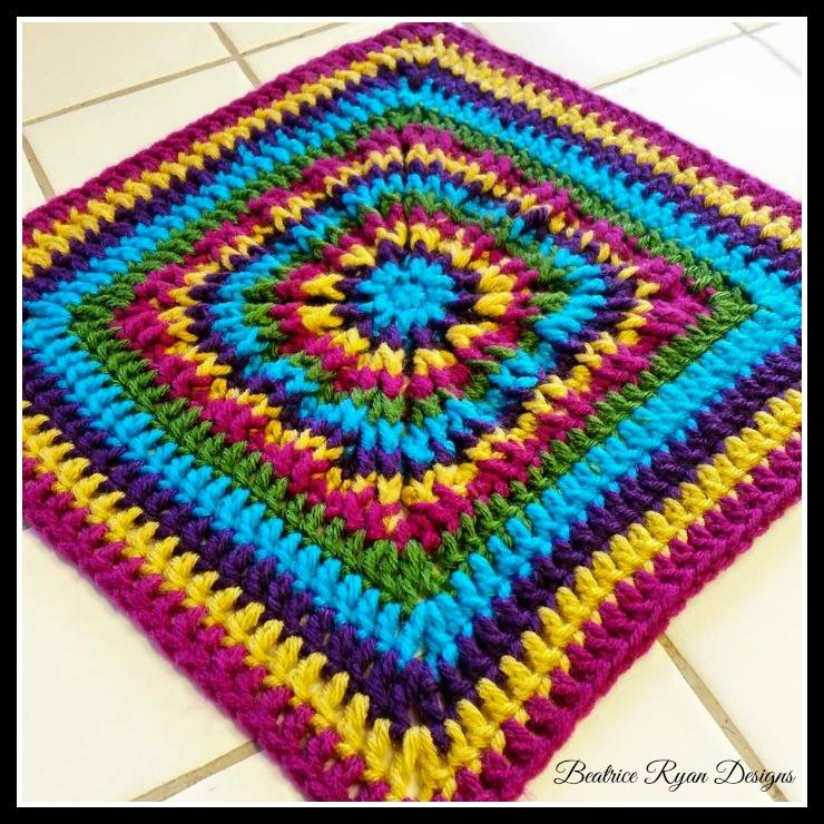 All American Crochet Afghan Pattern Free : The 2015 American Crochet Afghan Crochet~Along: Square #8 ...