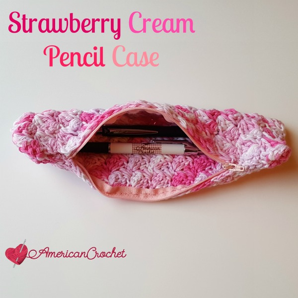 Strawberry Cream Pencil Case free crochet pattern