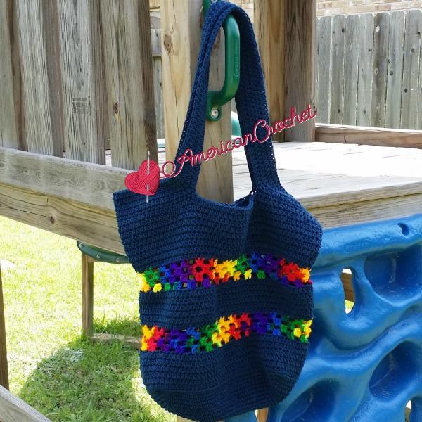 Classic Tote Bag free crochet pattern