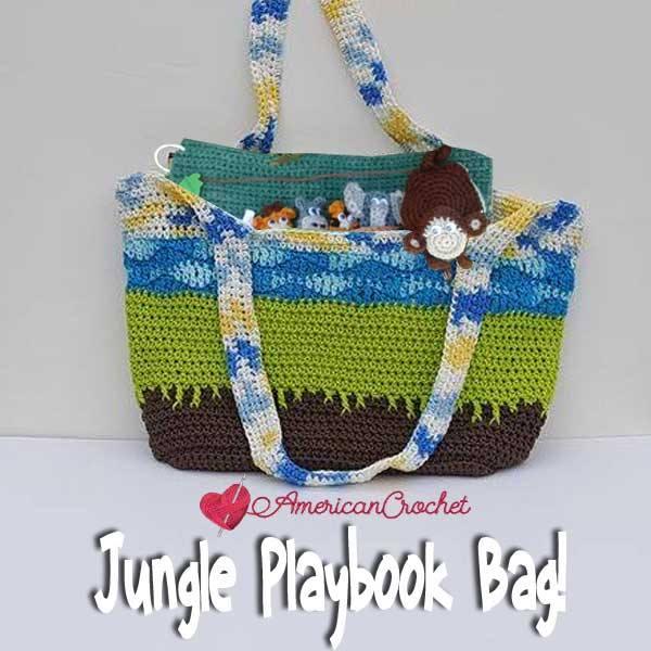 Jungle Playbook Bag free crochet pattern