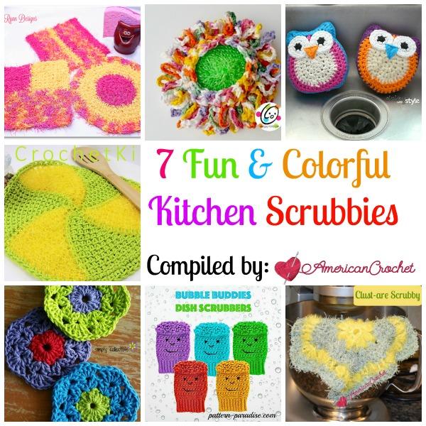 Crochet Patterns For Kitchen Scrubby : 7 Fun Kitchen Scrubbies American Crochet Roundup