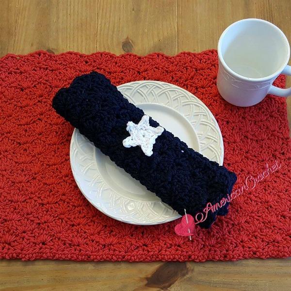 Picnic Pocket Napkin free crochet pattern