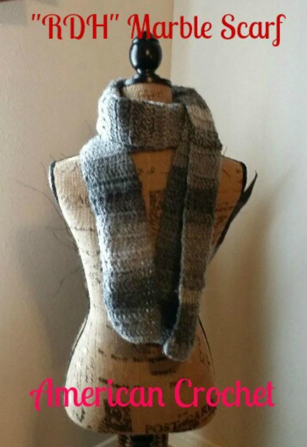 AC-RDH Marble Scarf free crochet pattern