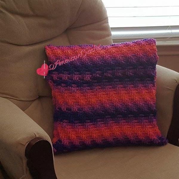 Rainbow Twist Pillow Cover free crochet pattern
