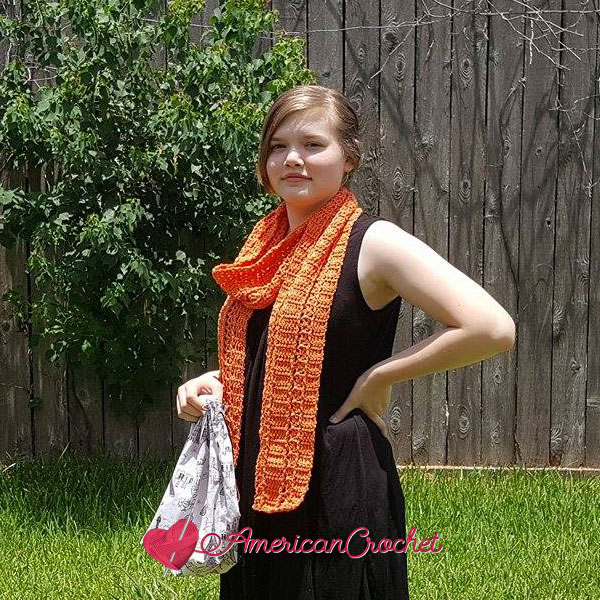 Sunseeker Summery Scarf free crochet pattern
