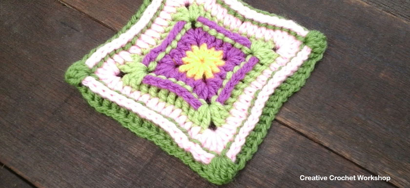 Hip Hop Granny Square - Free Crochet Pattern | Creative Crochet Workshop @creativecrochetworkshop |American Crochet @americancrochet #grannysquare #freecrochetpattern