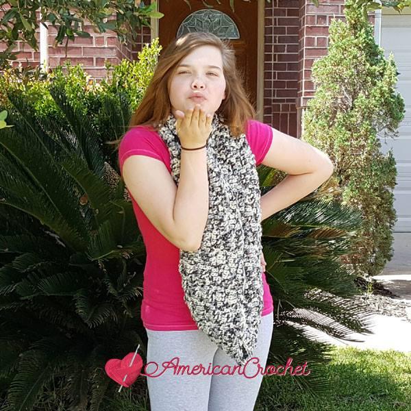 Melodys Bulky Cowl free crochet pattern