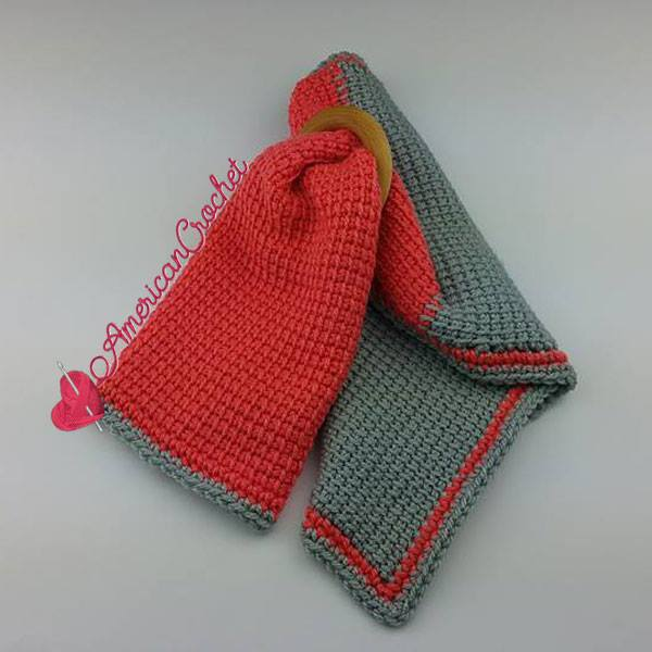 Tunisian Hugs Lovey free crochet pattern